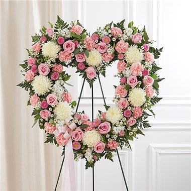 1 800 Flowers Always Remember Floral Heart Tribute Pink